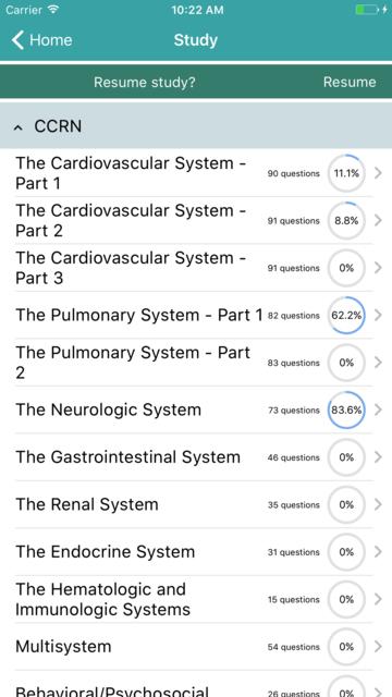 CCRN - Critical Care Registered Nurse Exam 2017 screenshot 1