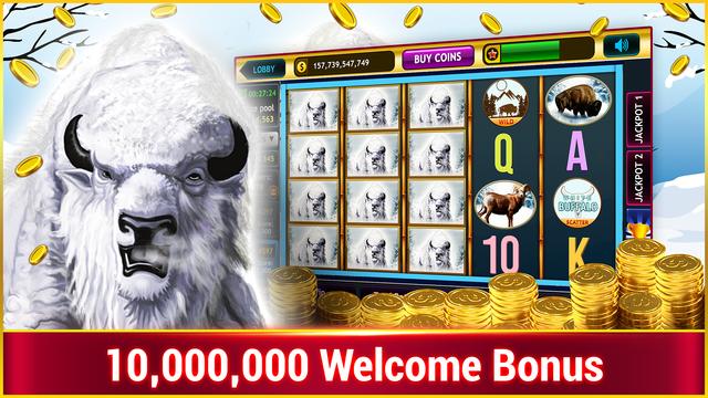 White Buffalo Slots :Vegas Casino Slots screenshot 1