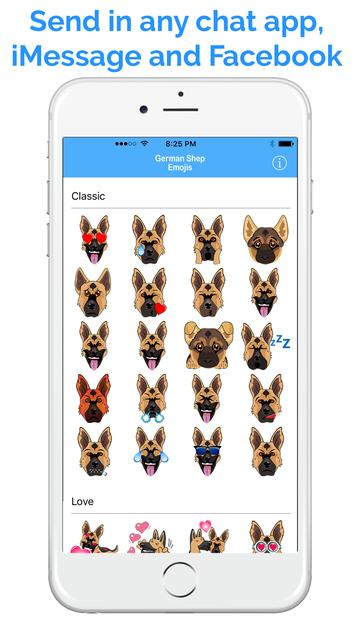 German Shep Emoji - GSD Emojis & Stickers screenshot 4
