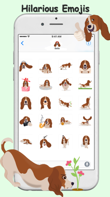 BassetMoji - Basset Emojis screenshot 5