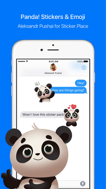 Panda! Stickers & Emoji screenshot 1