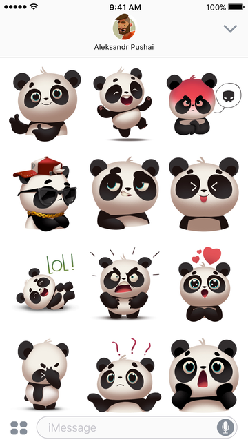 Panda! Stickers & Emoji screenshot 3