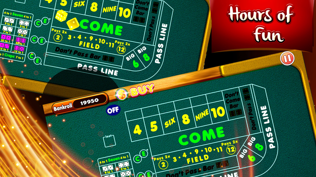 Sizzling Fortune Craps – Best Dices Bet Shooter 3D screenshot 2