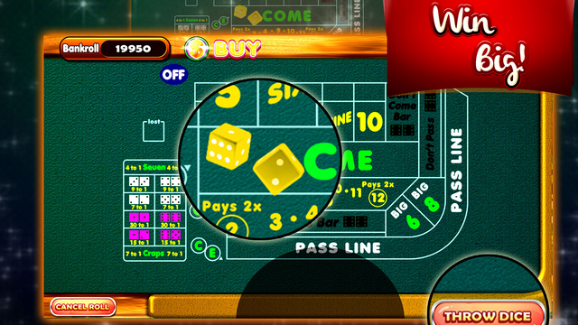 Sizzling Fortune Craps – Best Dices Bet Shooter 3D screenshot 3