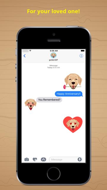 goldenGIF - Animated GIF Golden Retriever Emoji screenshot 3