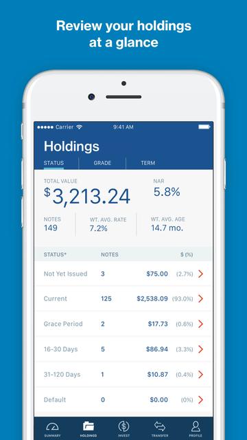 LendingClub Invest screenshot 2