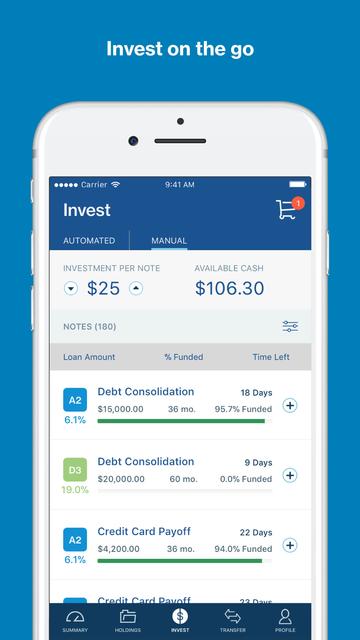 LendingClub Invest screenshot 4