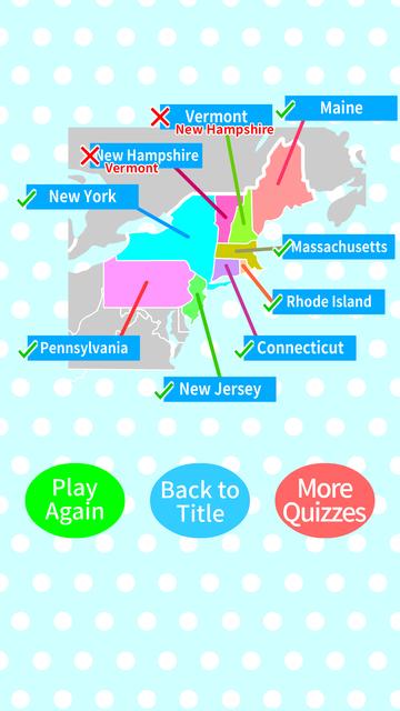 US States & Capitals Map Quiz screenshot 4