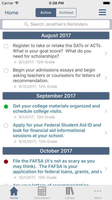 Financial Aid Badger screenshot 1