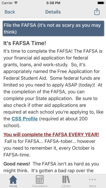 Financial Aid Badger screenshot 4