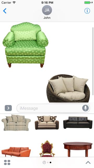 Furniture Stickers Pack screenshot 1