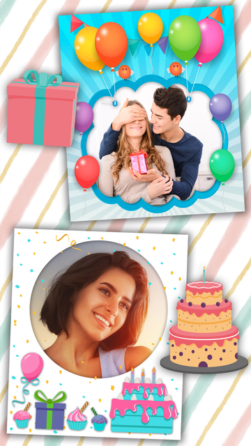 Birthday photo frames and stickers – Pro screenshot 2