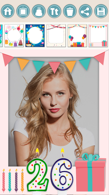 Birthday photo frames and stickers – Pro screenshot 3