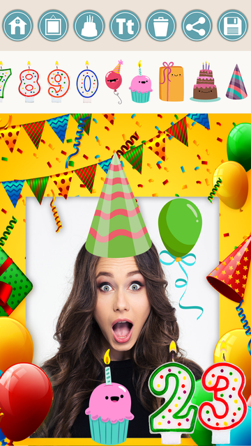 Birthday photo frames and stickers – Pro screenshot 5