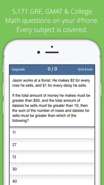 Allen GRE TestBank screenshot 1
