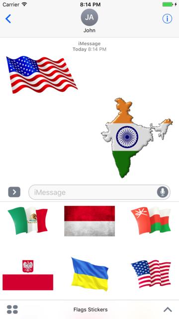 Best Flags Stickers screenshot 1