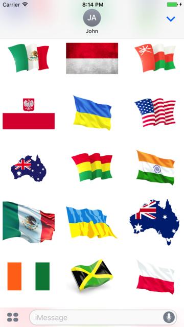 Best Flags Stickers screenshot 2