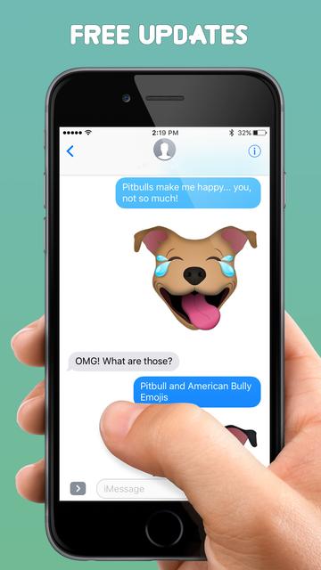 Pitbull & American Bully Emojis + screenshot 3