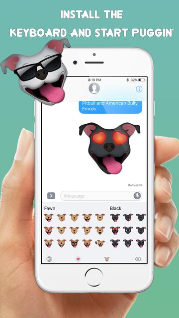 Pitbull & American Bully Emojis + screenshot 4