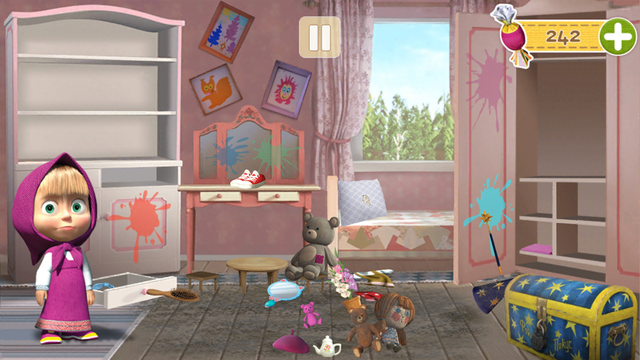 Masha and the Bear Clean House screenshot 4