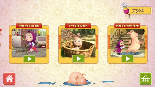 Masha and the Bear Clean House screenshot 5
