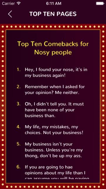 Top Ten Comebacks screenshot 3
