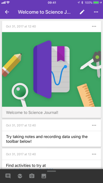 Science Journal by Google screenshot 2