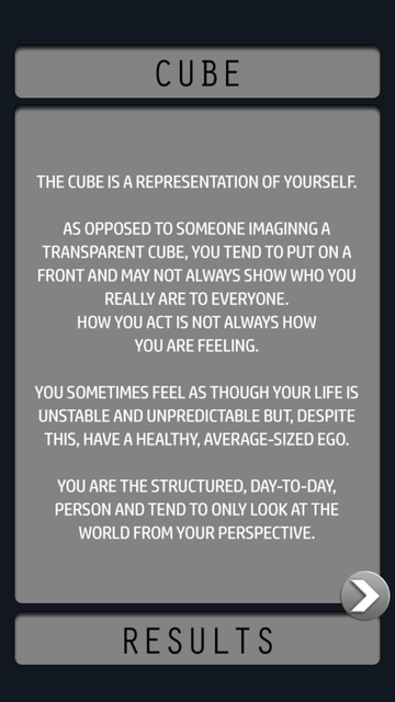 The Cube - Personality Exercise screenshot 4