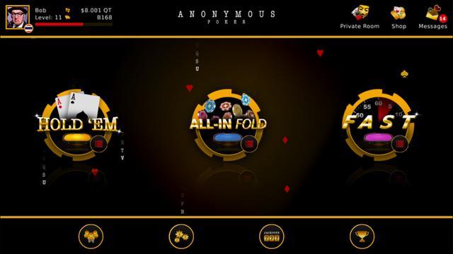 Anonymous Poker screenshot 1