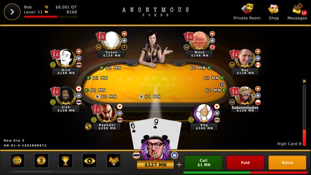 Anonymous Poker screenshot 2