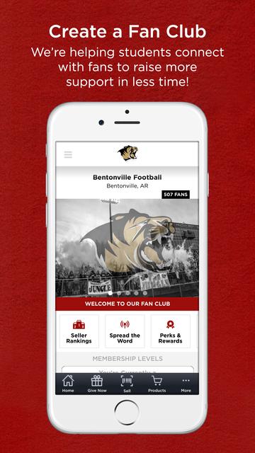Fan Club Fundraising screenshot 1