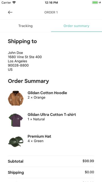 Custom Ink Order Tracker screenshot 5