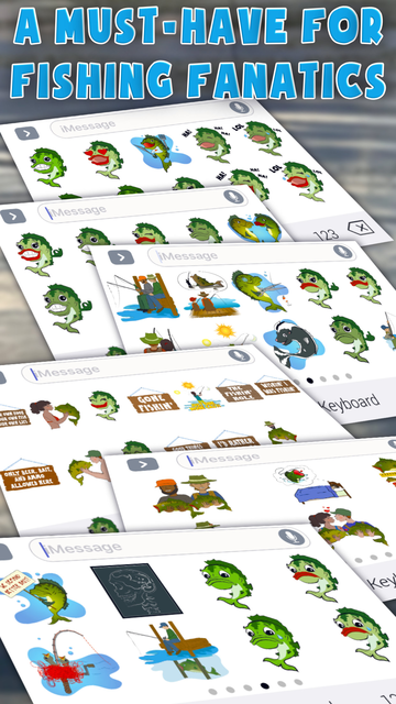 Bass Fishing Emoji Stickers screenshot 1