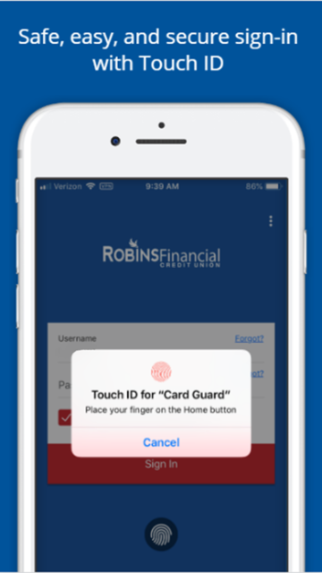 Robins Financial Card Guard screenshot 7
