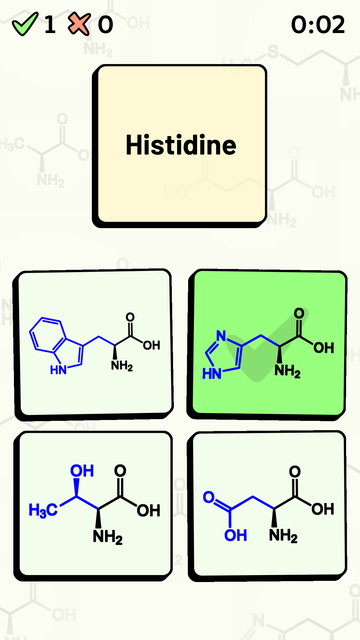 Amino Acid Quiz screenshot 7
