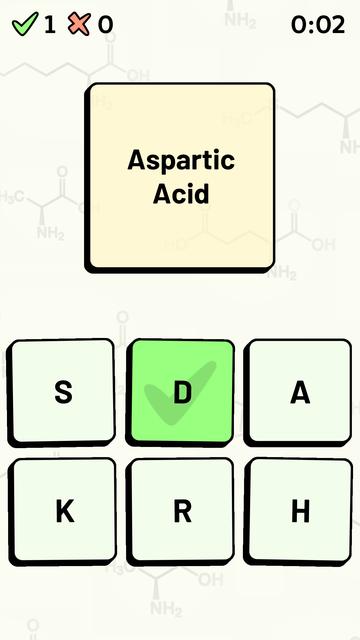 Amino Acid Quiz screenshot 9
