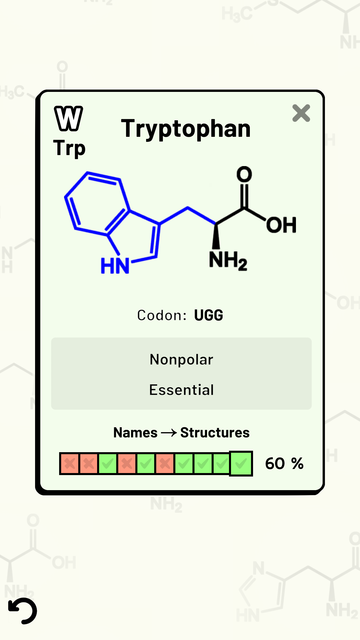 Amino Acid Quiz screenshot 10