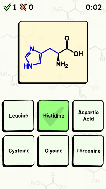 Amino Acid Quiz screenshot 11