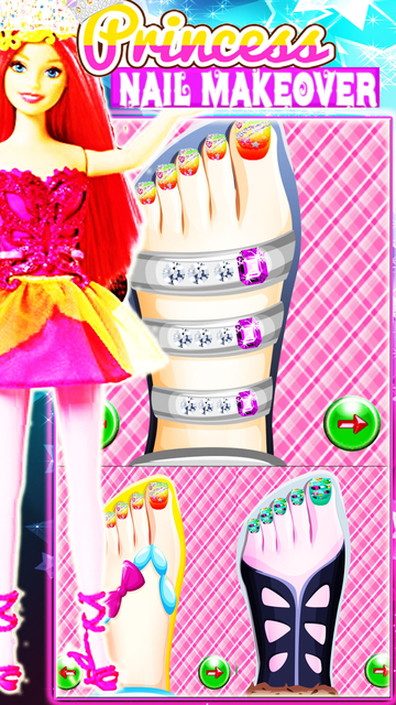 Princess Toe-Nail MakeOver Art screenshot 2