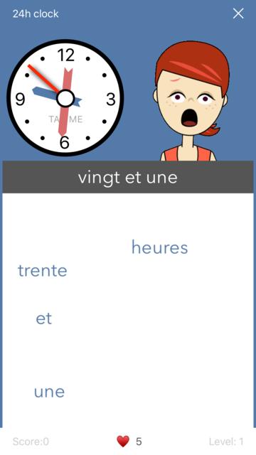 Learn French. Time. screenshot 5