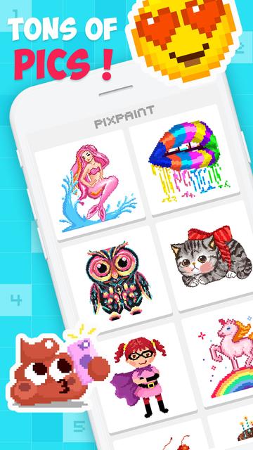 PixPaint - Number Coloring screenshot 1