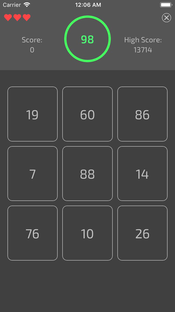 100S ( Numbers Puzzle Game ) screenshot 2
