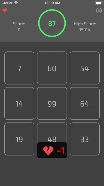 100S ( Numbers Puzzle Game ) screenshot 3