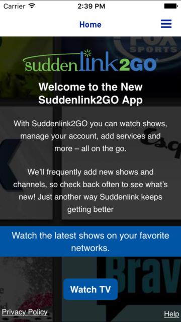 Suddenlink2GO screenshot 1