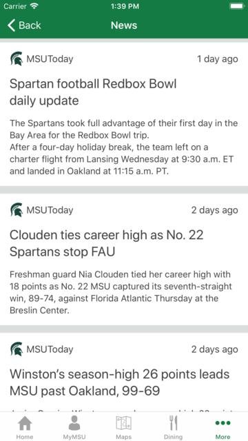 Michigan State University screenshot 9