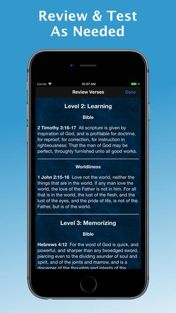 e-Sword MEM: Scripture Memory screenshot 2