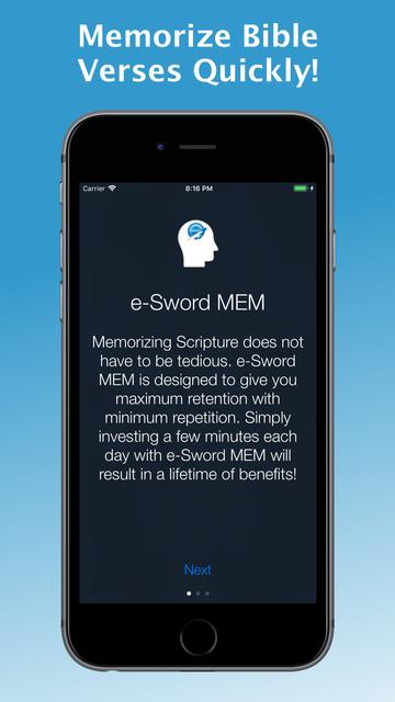 e-Sword MEM: Scripture Memory screenshot 6