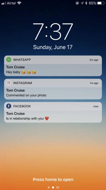 fake text notification message screenshot 1