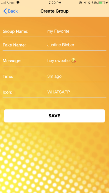 fake text notification message screenshot 4
