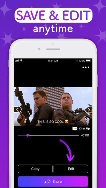 ChatUP - Text & emoji to video screenshot 8